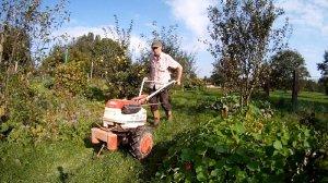 Einachser im Garten