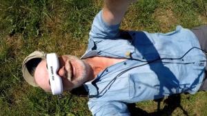 Drohne mit Datenbrille