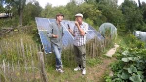 Solaranlage im Garten