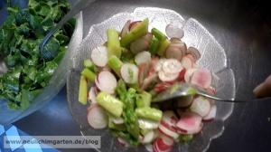 Spargelsalat aus eigenem Anbau