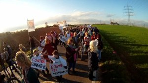 Protestdemo gegen den Konverter